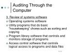 auditing through the computer3