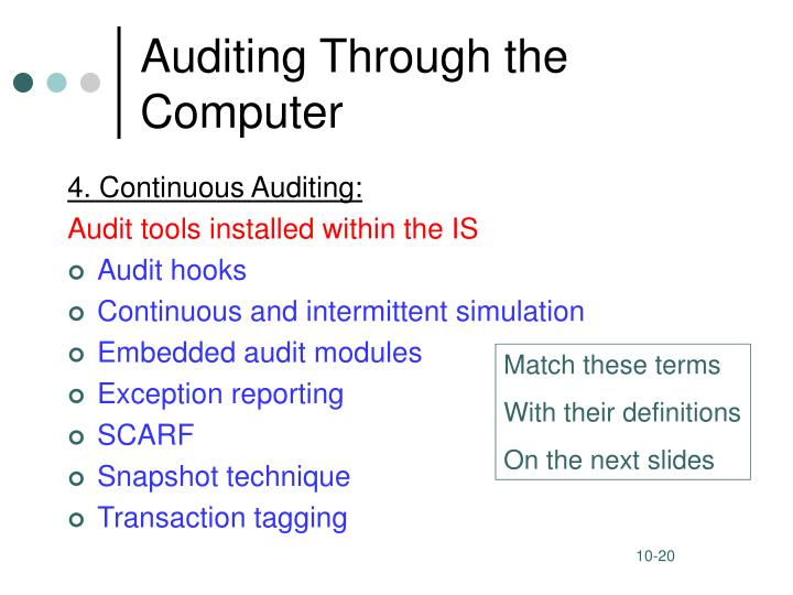 Auditing Through the Computer