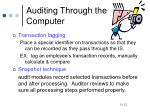 auditing through the computer7