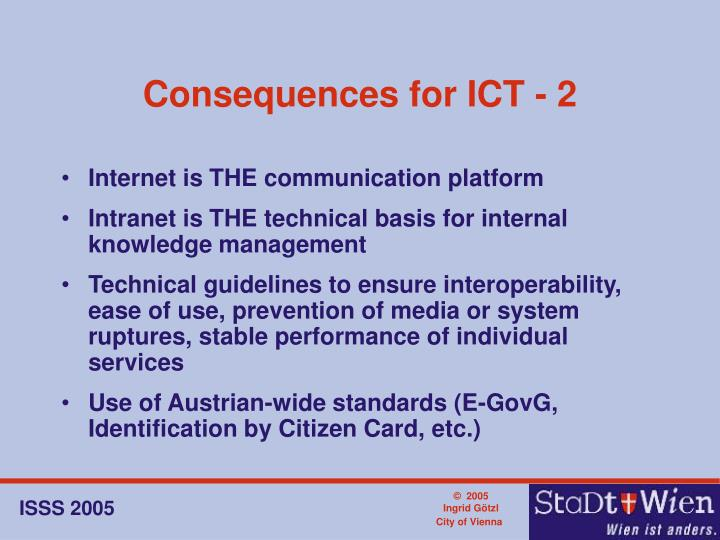 Consequences for ICT - 2