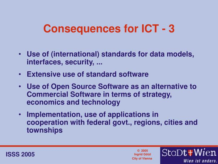 Consequences for ICT - 3