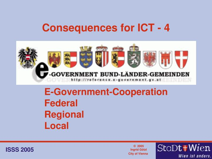 Consequences for ICT - 4