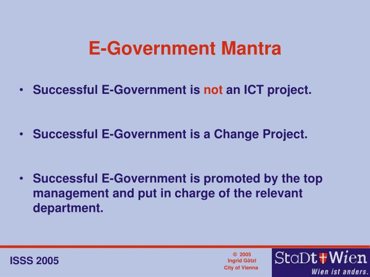 E-Government Mantra