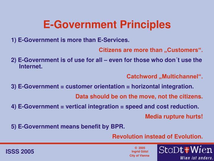 E-Government Principles