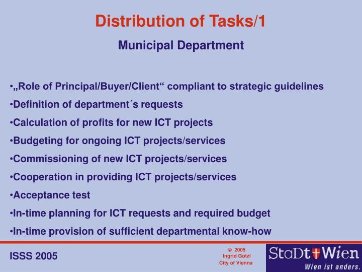 Distribution of Tasks/1