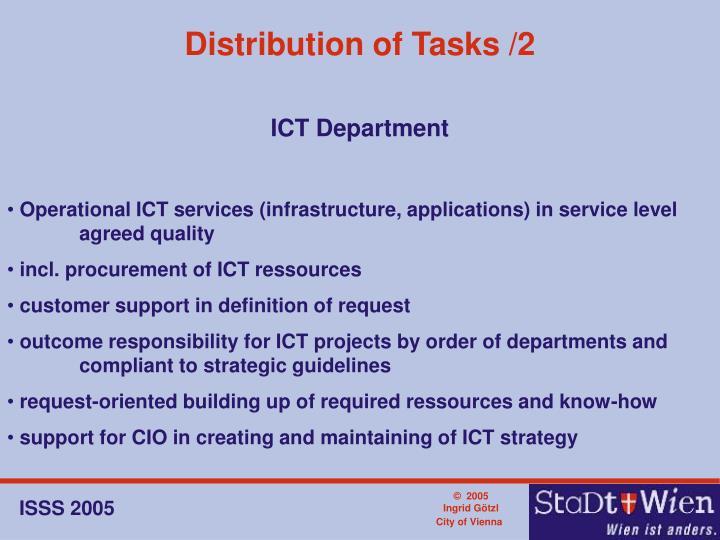 Distribution of Tasks /2