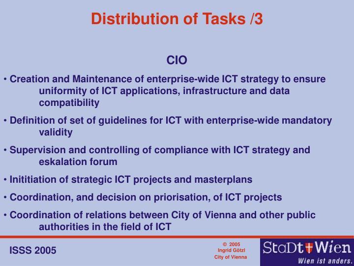 Distribution of Tasks /3