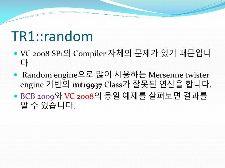 TR1::random