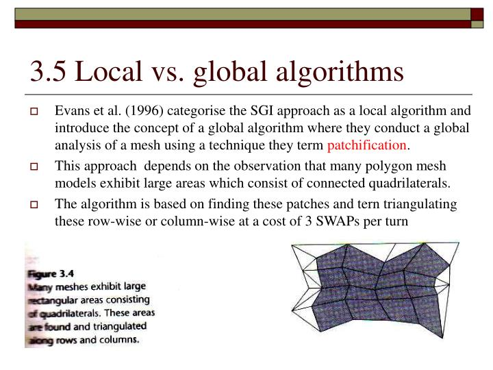 3.5 Local vs. global algorithms