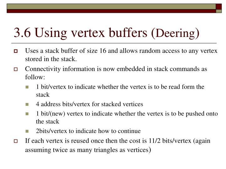 3.6 Using vertex buffers (