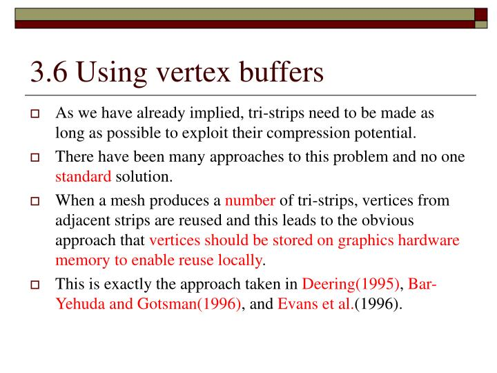 3.6 Using vertex buffers
