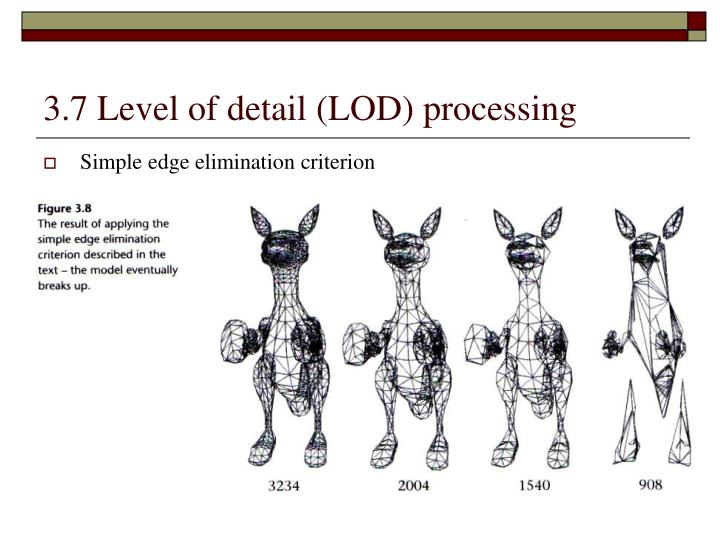 3.7 Level of detail (LOD) processing