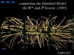 completing the standard model the w and z 0 bosons 1983