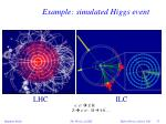 example simulated higgs event