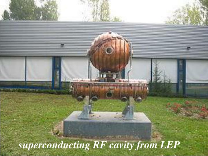 superconducting RF cavity from LEP