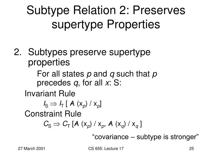 Subtype Relation 2: