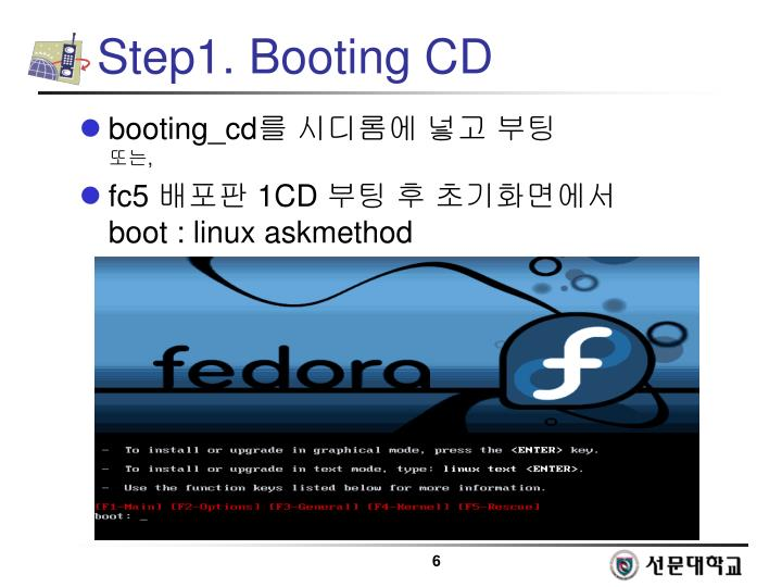 Step1. Booting CD