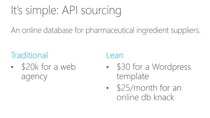 It's simple: API sourcing