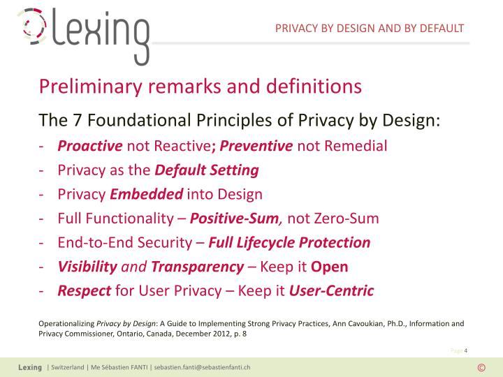 The 7 Foundational Principles of Privacy by Design: