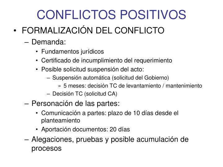 CONFLICTOS POSITIVOS