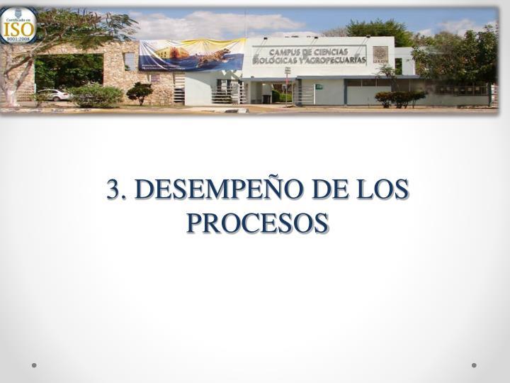 3. DESEMPEÑO DE LOS PROCESOS