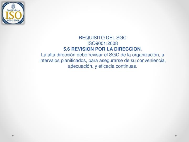 REQUISITO DEL SGC