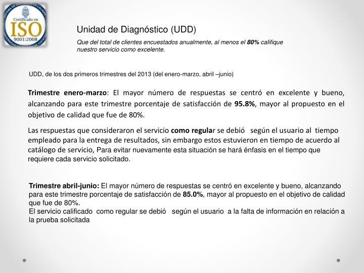 Unidad de Diagnóstico (UDD)