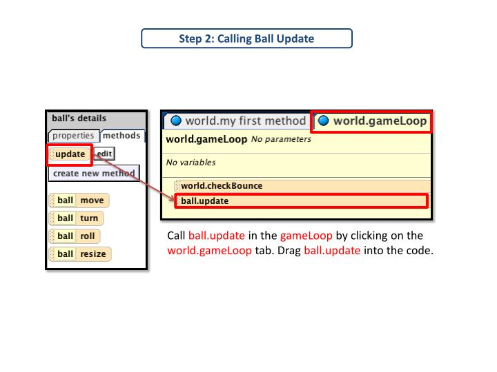 Step 2: Calling Ball Update