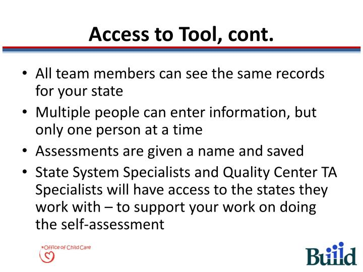 Access to Tool, cont.