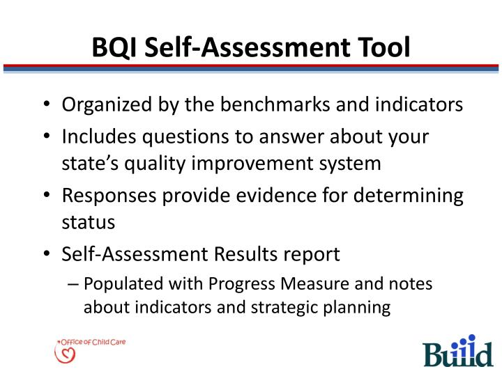 Bqi self assessment tool