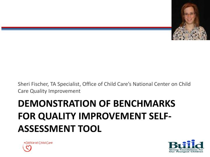 Demonstration of benchmarks for quality improvement self assessment tool