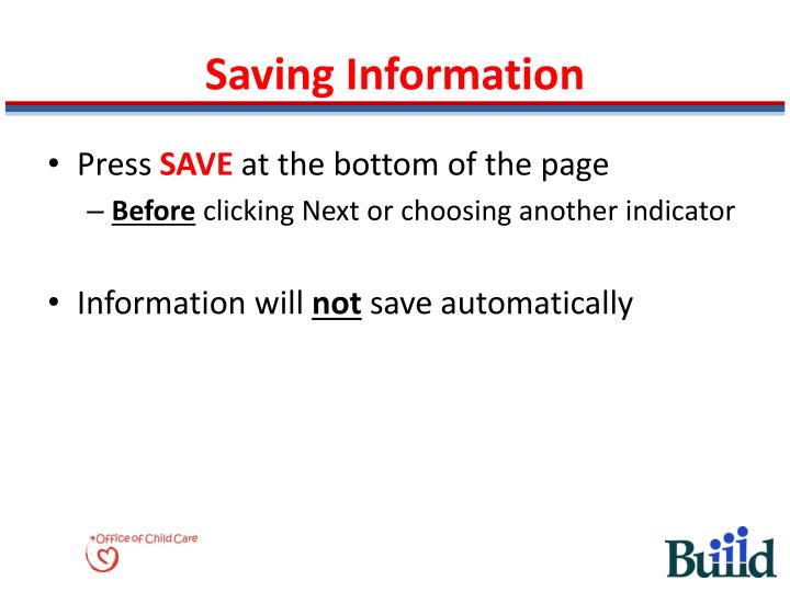 Saving Information
