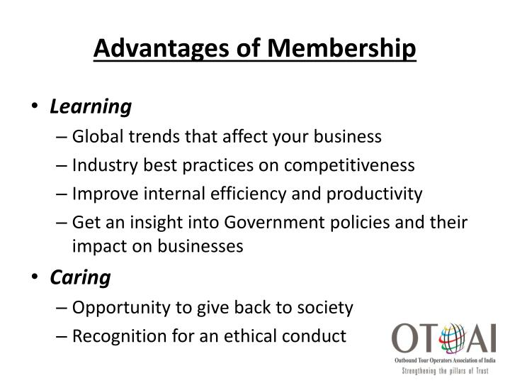 Advantages of Membership