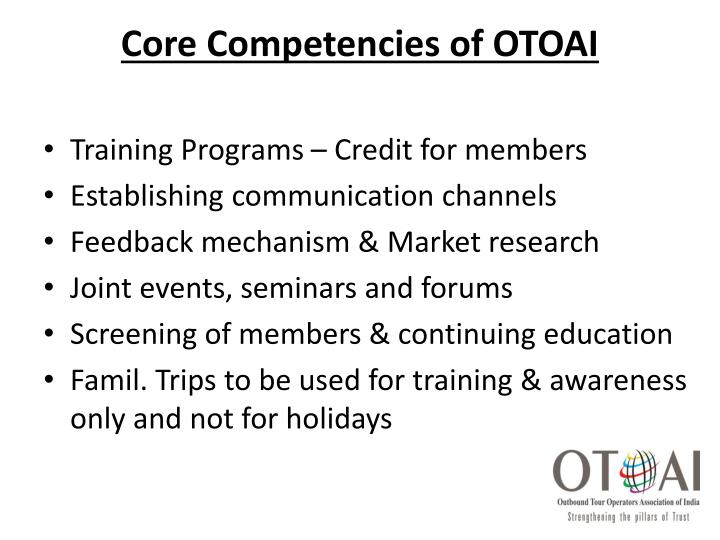 Core Competencies of OTOAI