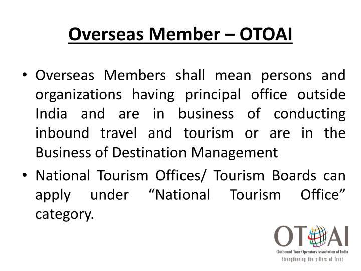 Overseas Member – OTOAI