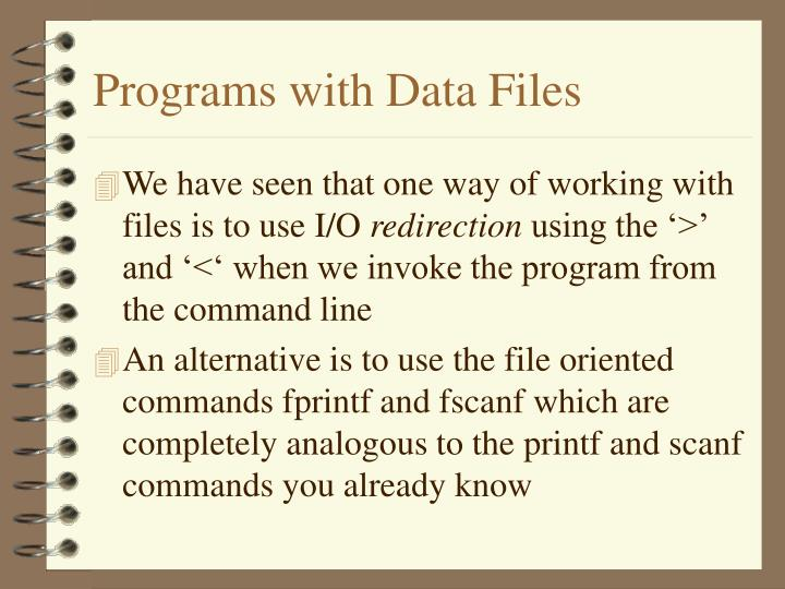 Programs with data files1
