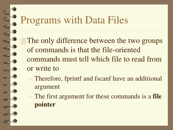 Programs with Data Files