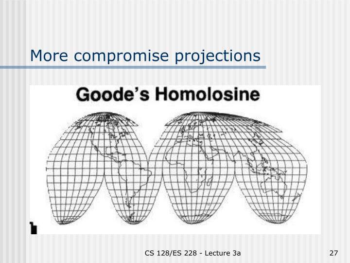 More compromise projections