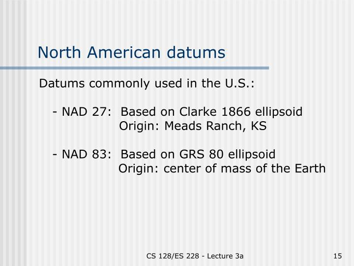 North American datums