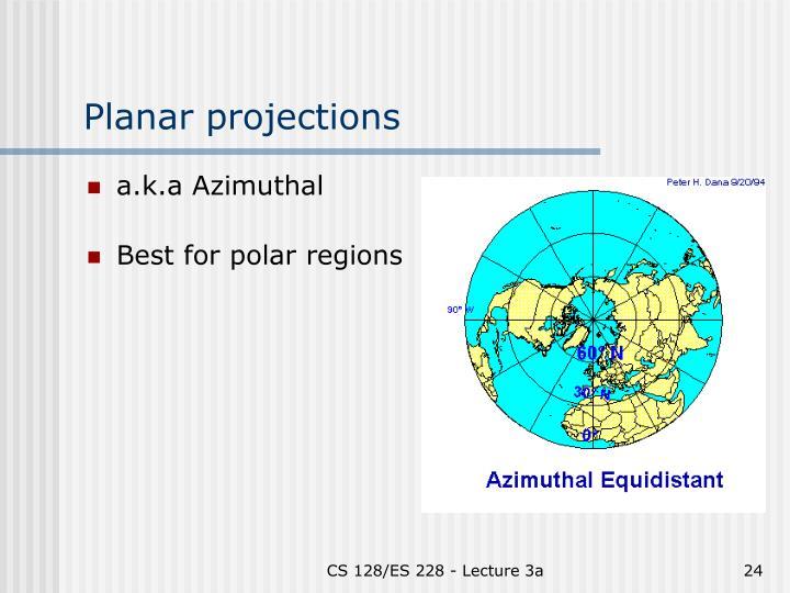 Planar projections