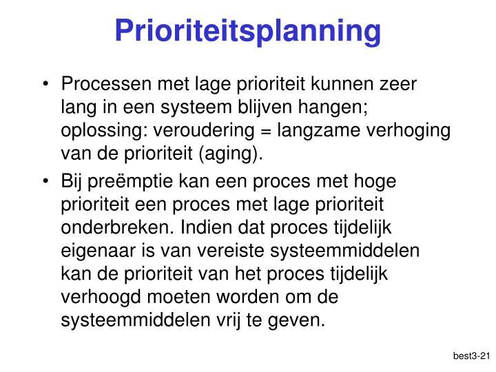 Prioriteitsplanning