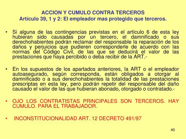 ACCION Y CUMULO CONTRA TERCEROS