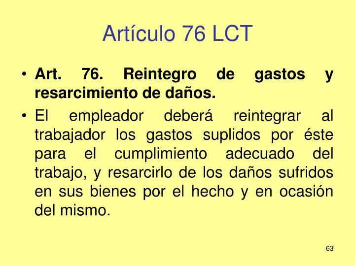 Artículo 76 LCT