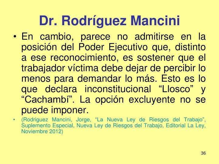 Dr. Rodríguez Mancini