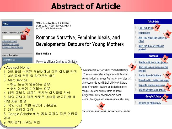 Abstract of Article