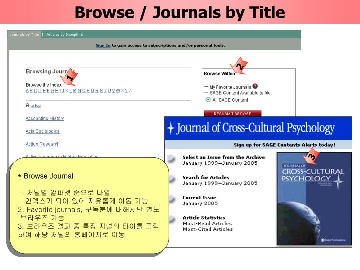 Browse / Journals by Title