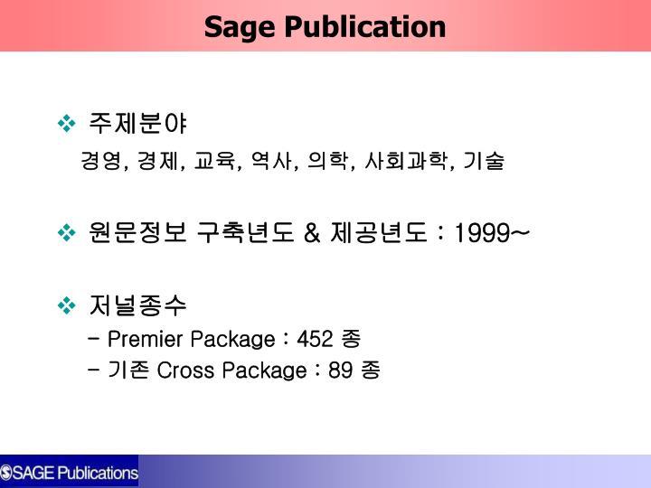 Sage Publication