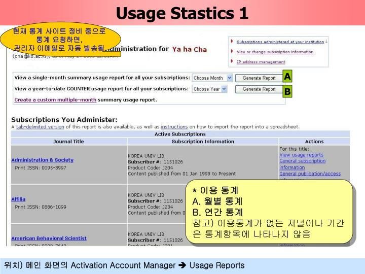 Usage Stastics 1