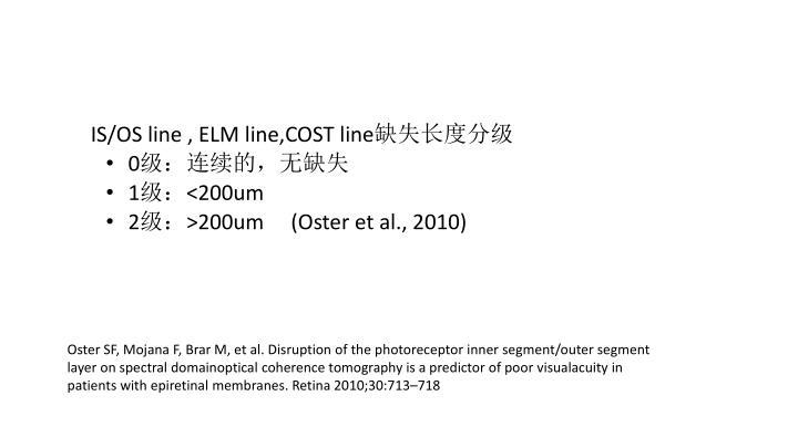 IS/OS line , ELM