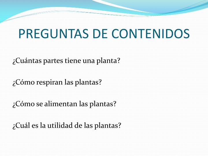 PREGUNTAS DE CONTENIDOS